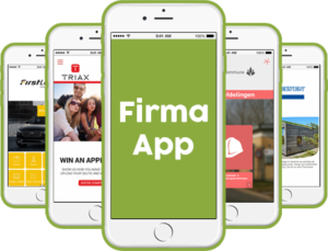 Firma app til Android smartphone, iPhone, iPad og tablet