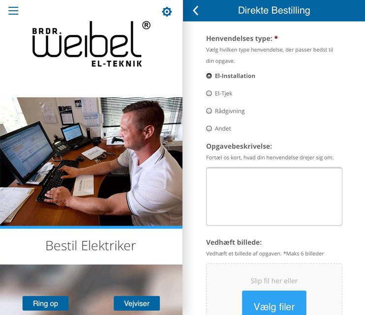 App Udvikling For Weibel-El Teknik